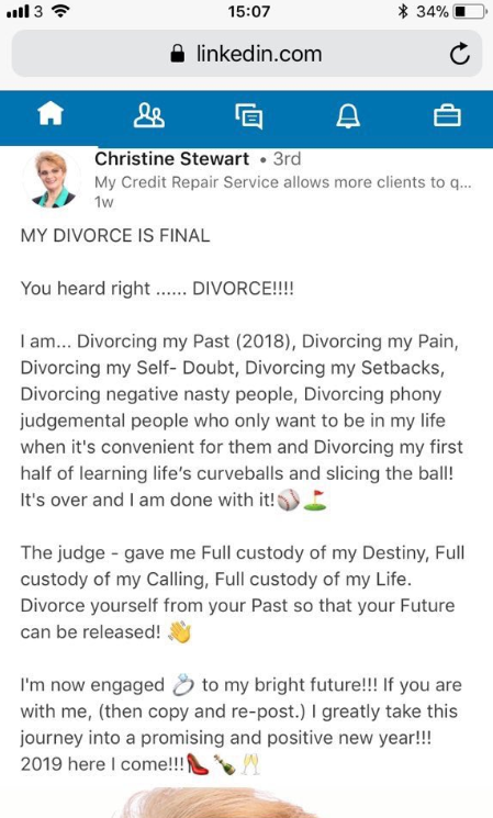 Divorce State of linkedin world cup