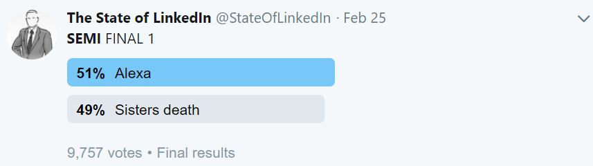 Semi Final 1 State of linked in